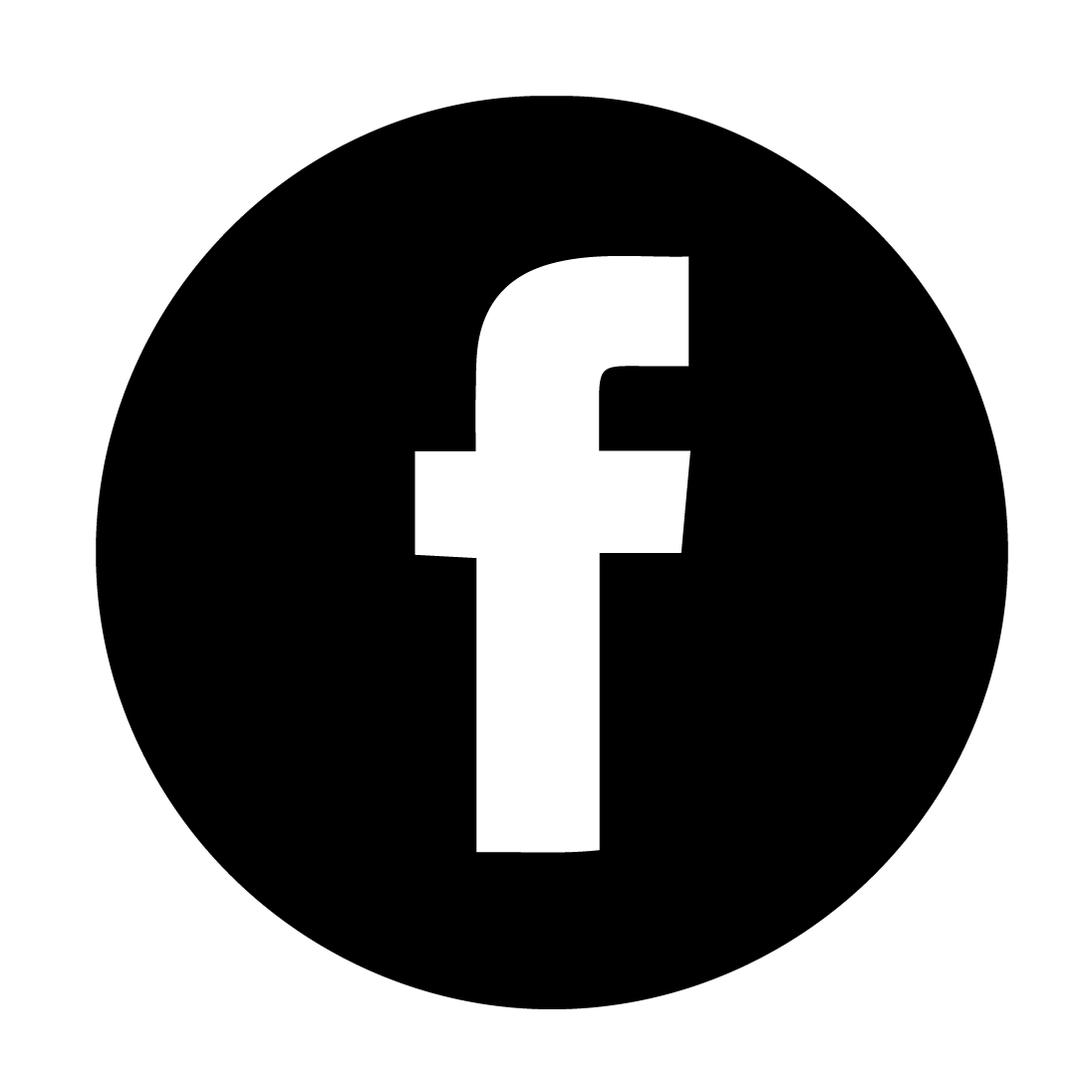 facebook logo black and white png 41